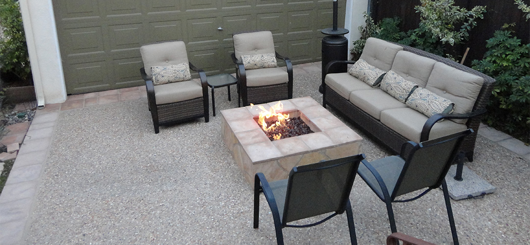 Entertainment Patio with Fire Pit - Gemini 2 Landscape Construction