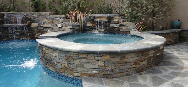 Entertainment Backyard with Pool and Spa - Gemini 2 Landscape Construction