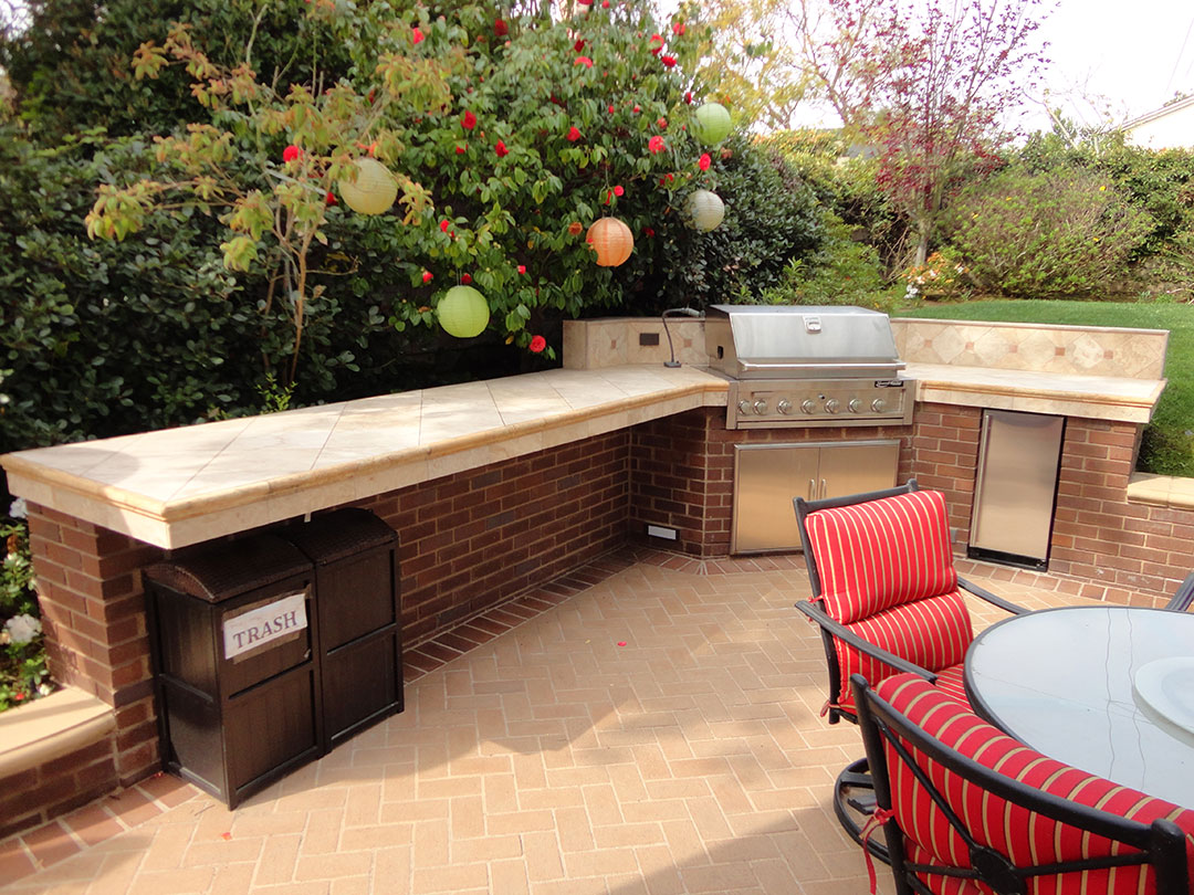 outdoor patio bbq and entertainment area gemini 2 landscape