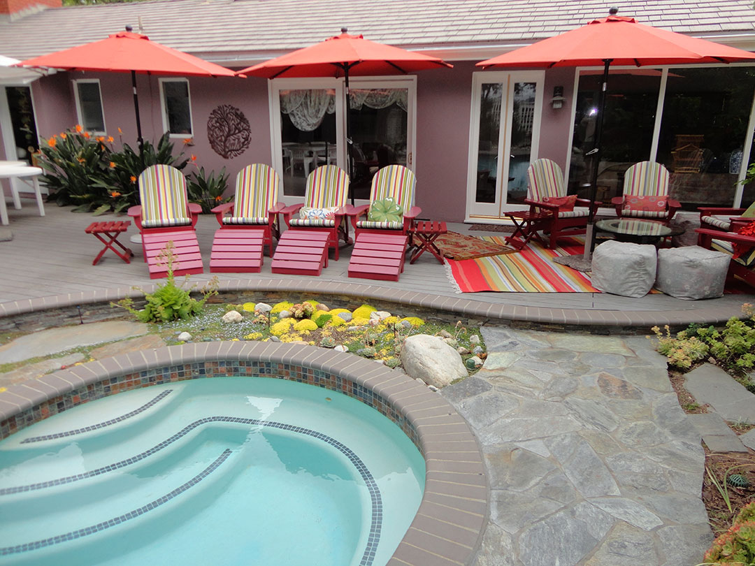 Pool and Spa Deck | Gemini 2 Landscape Construction on Outdoor Living Pool And Spa id=58398