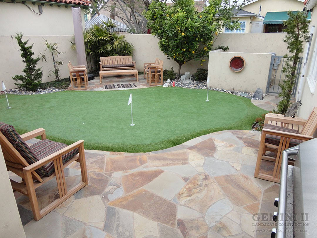 backyard putting green gemini 2 landscape construction