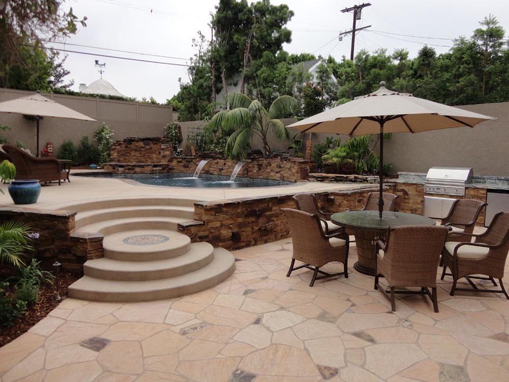 entertainment backyard with pool and spa gemini 2