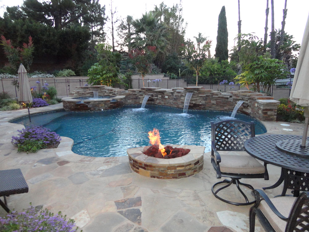 entertainment pool and spa patio gemini 2 landscape