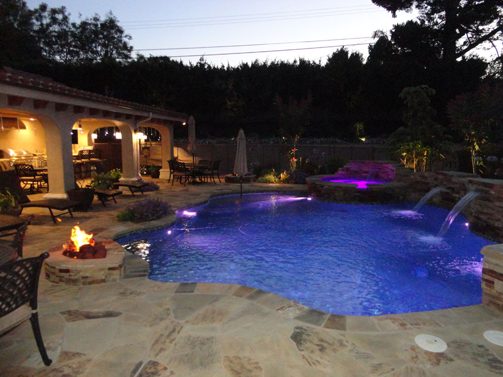 Entertainment pool and spa patio gemini 2 landscape for Pool and spa contractors